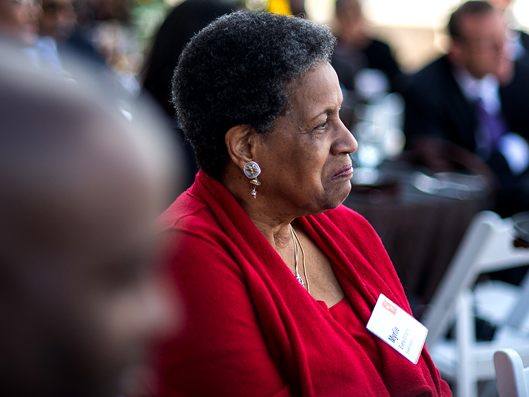 """Civil rights leader Myrlie Evers says she's excited """"for the day that the Mississippi Civil Rights Museum opens its doors to people from Mississippi and throughout the country and the world."""""""