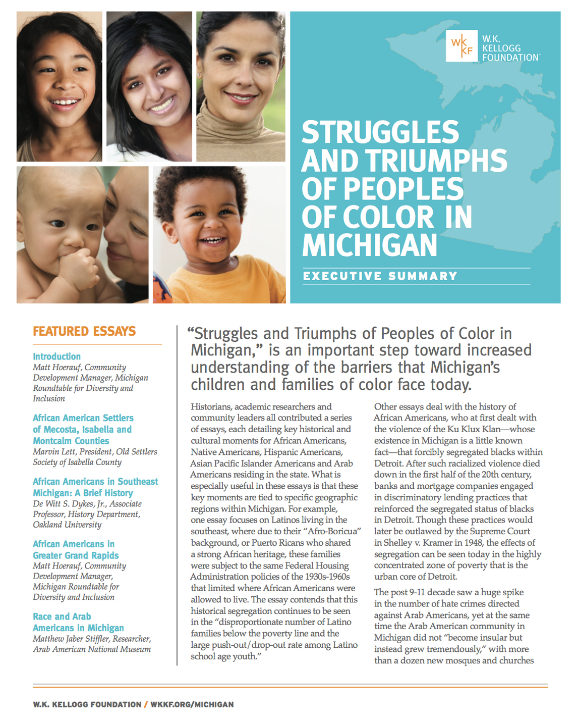 Struggles and Triumphs of Peoples of Color in Michigan - Executive Summary - W.K. Kellogg Foundation