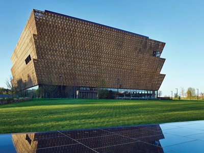 Photo Credit image of the NMAAHC building by Douglas Remley (Smithsonian).